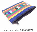 colorful fabric bag with zipper