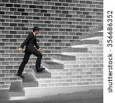 concept 3d man or  businessman... | Shutterstock . vector #356686352