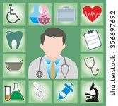 medical icons vector image | Shutterstock .eps vector #356697692