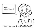 hillary clinton caricature with ...   Shutterstock .eps vector #356700485