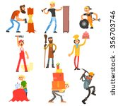 profession and occupation ... | Shutterstock .eps vector #356703746