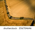 aerial view of a country road... | Shutterstock . vector #356704646