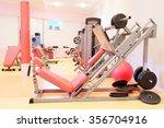 interior of a modern fitness... | Shutterstock . vector #356704916