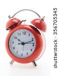red classic alarm clock... | Shutterstock . vector #356705345