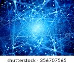 multiple glowing connections in ... | Shutterstock . vector #356707565