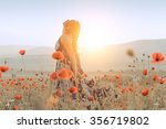 Beautiful Girl In A Poppy Field ...