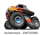 cartoon monster truck.... | Shutterstock .eps vector #356725586