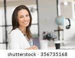 young attractive brunette woman ... | Shutterstock . vector #356735168