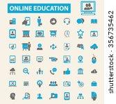 online education  learning ... | Shutterstock .eps vector #356735462