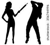 angry woman hitting her partner ...   Shutterstock .eps vector #356744996