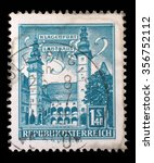 austria   circa 1960  a stamp... | Shutterstock . vector #356752112