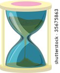 illustration of sand clock on...   Shutterstock . vector #35675863