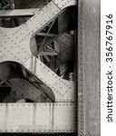 Steel Beams Under Bridge