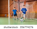 two sporty young boys on an... | Shutterstock . vector #356774276