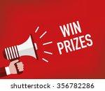 win prizes | Shutterstock .eps vector #356782286