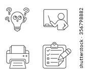 school vector icons | Shutterstock .eps vector #356798882