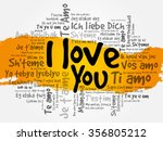i love you word cloud in... | Shutterstock . vector #356805212
