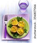 muffin with ricotta eggs and... | Shutterstock . vector #356807066
