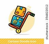 shopping cart color doodle | Shutterstock .eps vector #356822012