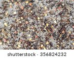 texture of dry leaf on cement... | Shutterstock . vector #356824232