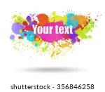 multi color blots background.... | Shutterstock .eps vector #356846258