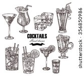 set of alcoholic cocktails.... | Shutterstock . vector #356850986