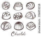 Set Of Various Chocolate...