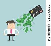 businessman no money. debt from ... | Shutterstock .eps vector #356883212