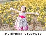 adorable girl smiling on... | Shutterstock . vector #356884868