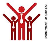 red teamwork  group of... | Shutterstock . vector #356886122