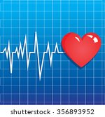 vector illustration of heart... | Shutterstock .eps vector #356893952