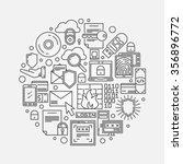 internet or computer security... | Shutterstock .eps vector #356896772