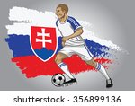 slovakia soccer player with...   Shutterstock .eps vector #356899136