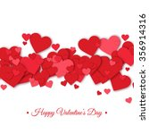 happy valentines day and... | Shutterstock .eps vector #356914316