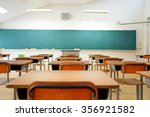 school classroom with school... | Shutterstock . vector #356921582