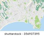 vector city map of nice  france | Shutterstock .eps vector #356937395