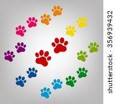 animal tracks sign. icons... | Shutterstock . vector #356939432