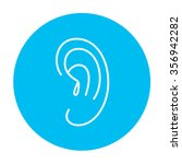 human ear line icon for web ...   Shutterstock .eps vector #356942282
