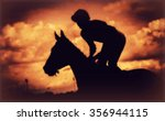 Silhouette Of Thoroughbred And...