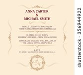 invitation card with monogram.... | Shutterstock .eps vector #356944922