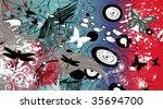 floral background | Shutterstock .eps vector #35694700