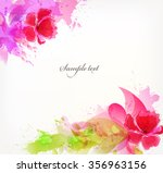 watercolor vector background... | Shutterstock .eps vector #356963156