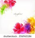 watercolor vector background...   Shutterstock .eps vector #356963186