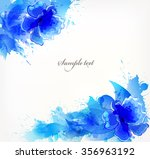 watercolor vector background... | Shutterstock .eps vector #356963192