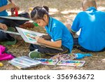 nakhon pathom tha   dec 7  the... | Shutterstock . vector #356963672