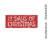 12 days of christmas vector sign | Shutterstock .eps vector #356964335