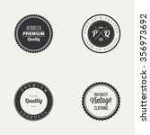 abstract premium quality labels ... | Shutterstock .eps vector #356973692