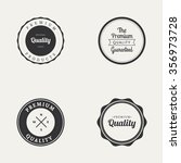 abstract premium quality labels ... | Shutterstock .eps vector #356973728