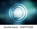 security concept  lock on...   Shutterstock . vector #356975285