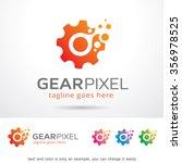 gear pixel logo template design ...   Shutterstock .eps vector #356978525